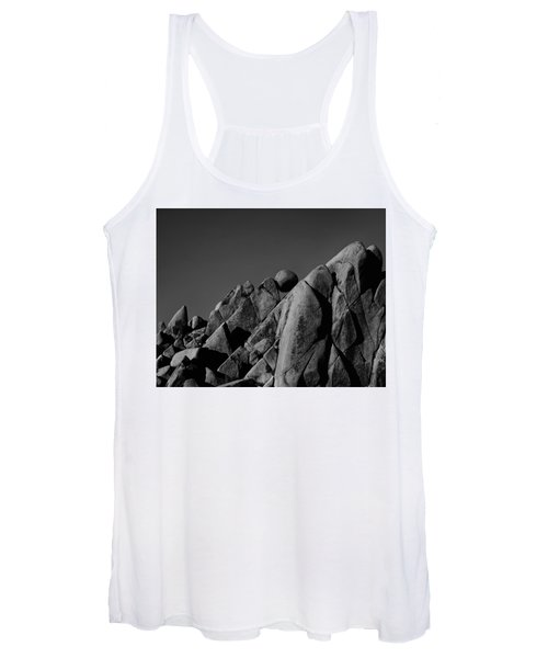 Marble Rock Formation B And W Version Women's Tank Top