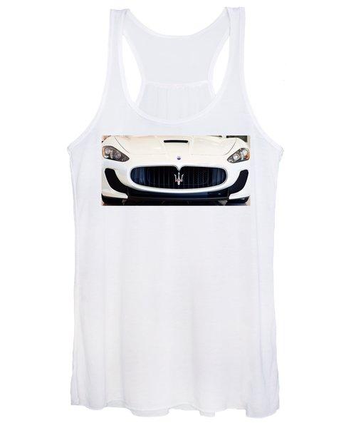 Maserati White Pano 121715 Women's Tank Top