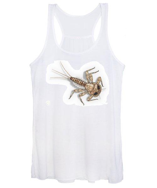 Mayfly Larva Nymph Rithorgena Ecdyonurus Venosus - Moscas De May Women's Tank Top
