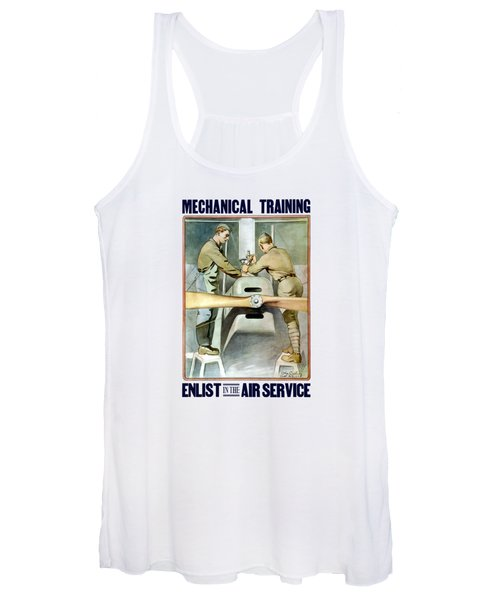 Mechanical Training - Enlist In The Air Service Women's Tank Top