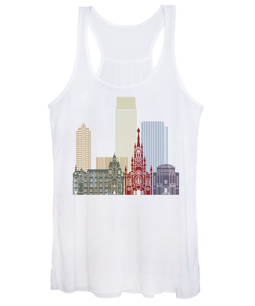 Medellin Skyline In Poster Women's Tank Top