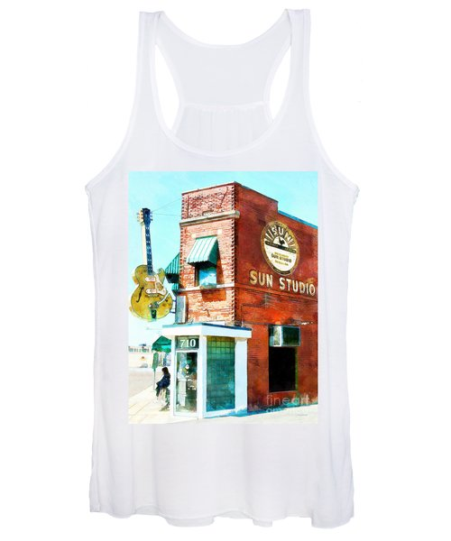 Memphis Sun Studio Birthplace Of Rock And Roll 20160215wcstyle Women's Tank Top