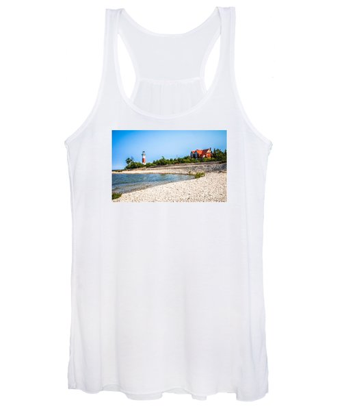 Middle Island Lighthouse And Beach Women's Tank Top