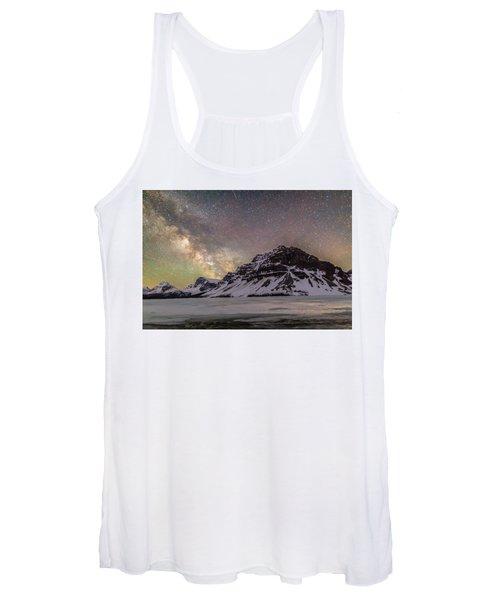 Milky Way Over Crowfoot Mountain Women's Tank Top