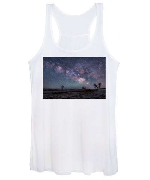 Milky Way Over The Prairie Women's Tank Top