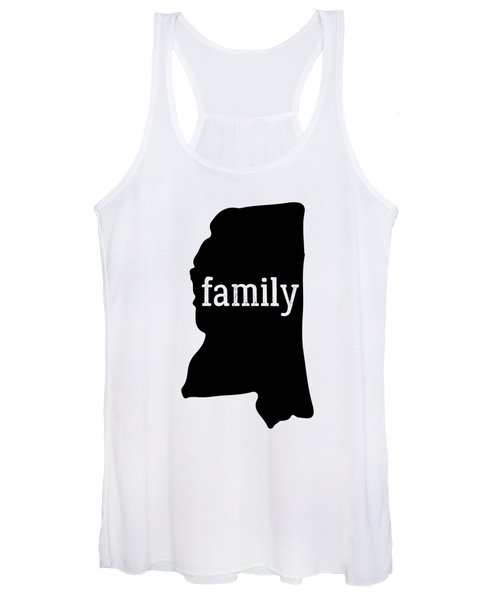 Mississippi Cool Gift Family State Shirt Dark Women's Tank Top
