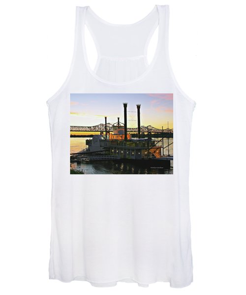Mississippi Riverboat Sunset Women's Tank Top