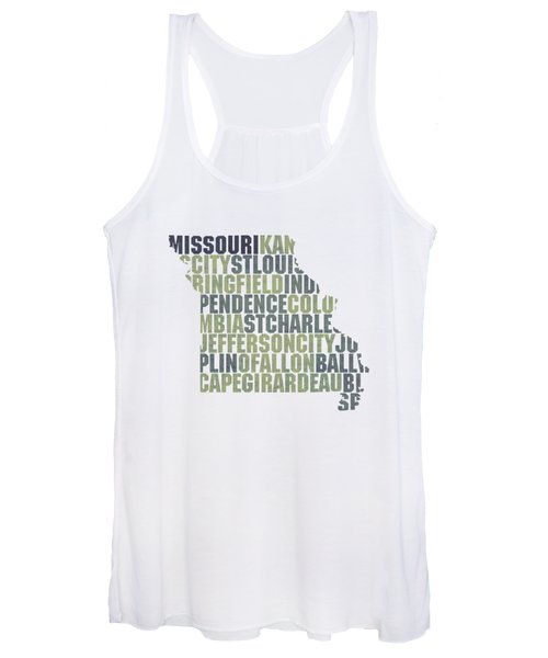 Missouri State Outline Word Map Women's Tank Top