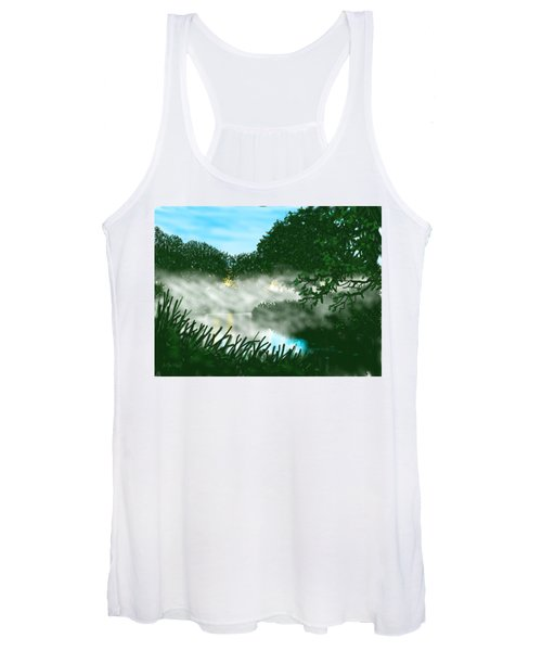 Mist On The River Ouse Women's Tank Top