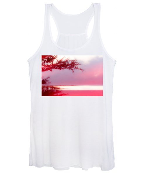 Women's Tank Top featuring the photograph Misty Morn by Bob Cournoyer