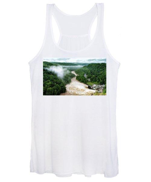 Misty Morning At Summersville Lake Dam Women's Tank Top