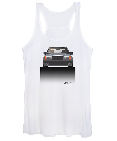 Modern Euro Icons Series Mercedes Benz W124 500e Split  Women's Tank Top