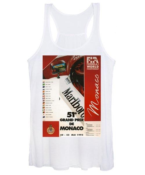 Monaco F1 1993 Women's Tank Top