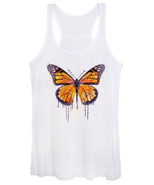 Monarch Butterfly Watercolor Women's Tank Top