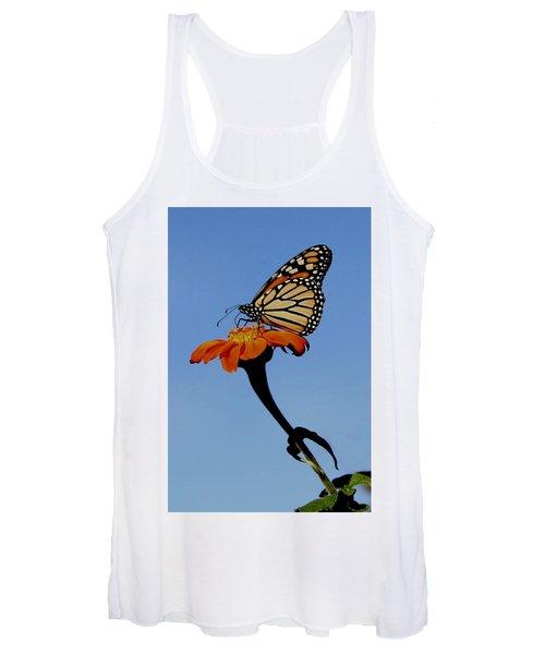 Monarch On Zinnia  Women's Tank Top