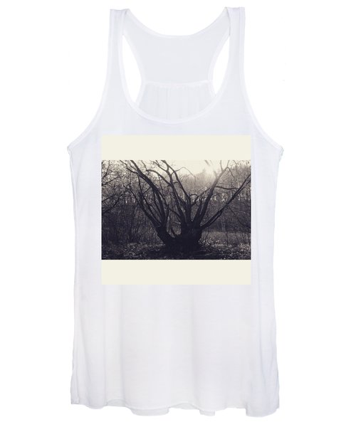#monochrome #canon #tree #blackandwhite Women's Tank Top