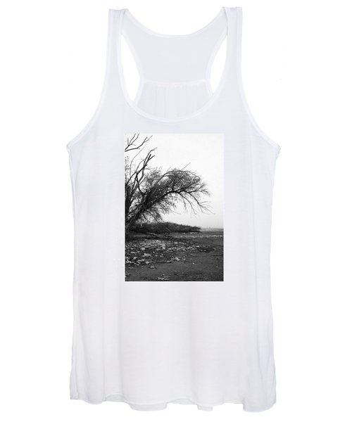 #monochrome #lake #landscape  #stausee Women's Tank Top
