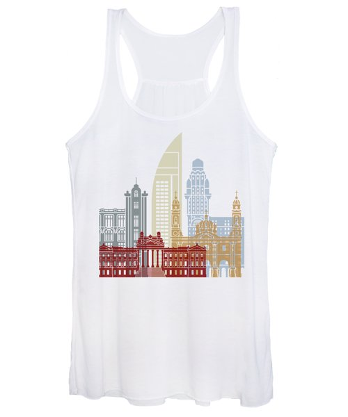 Montevideo Skyline Poster Women's Tank Top