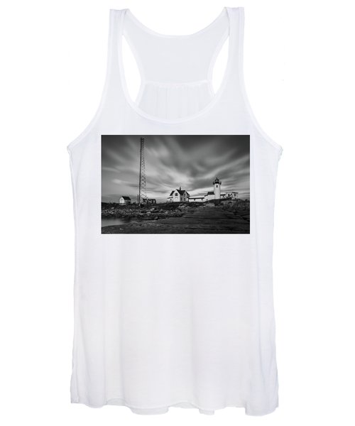 Moody Sky At Eastern Point Lighthouse Women's Tank Top