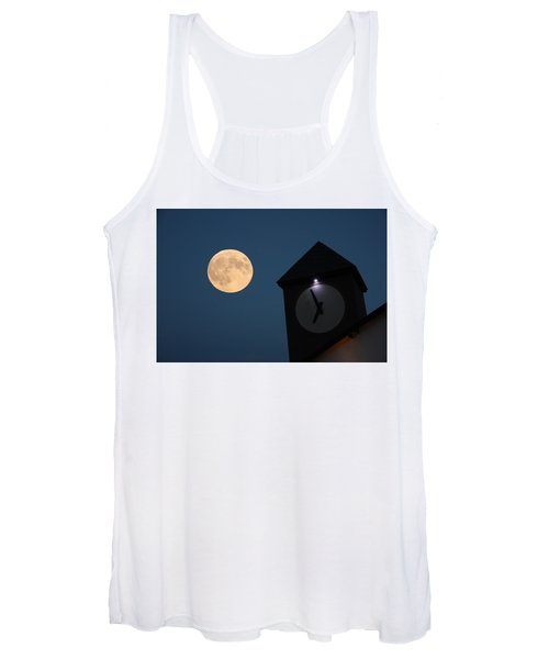 Moon And Clock Tower Women's Tank Top