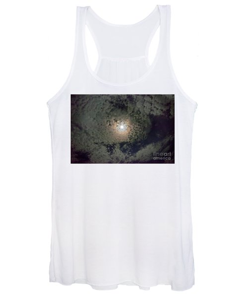 Moon And Clouds Women's Tank Top