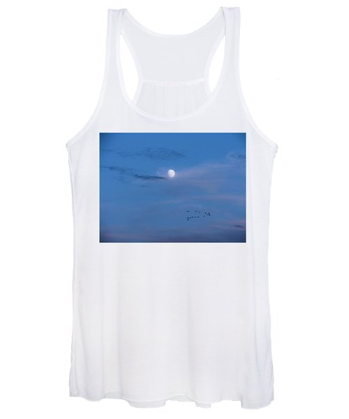 Moon Rises Geese Fly Women's Tank Top