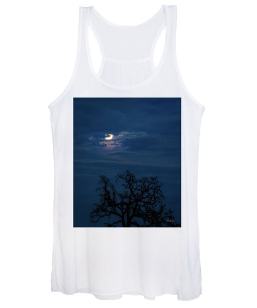 Moonlight Through A Blue Evening Sky Women's Tank Top