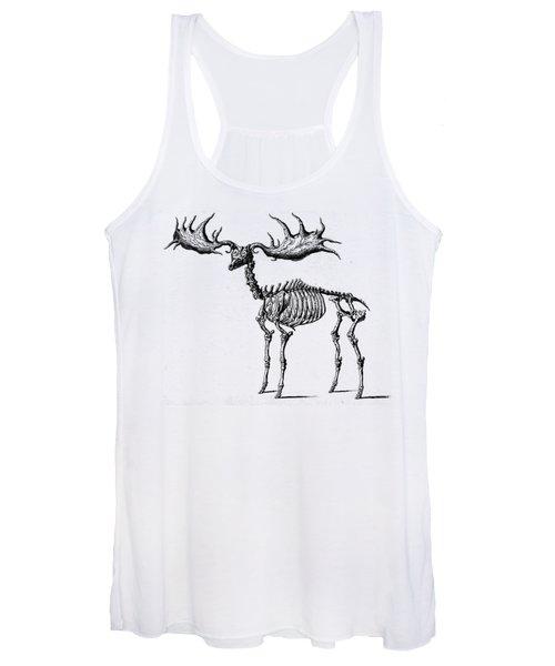 Moose Skeleton T Shirt Design Women's Tank Top