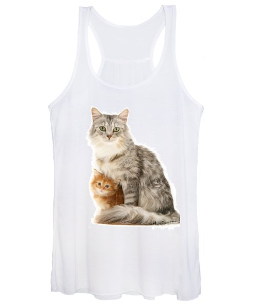 Mother Cat And Ginger Kitten Women's Tank Top