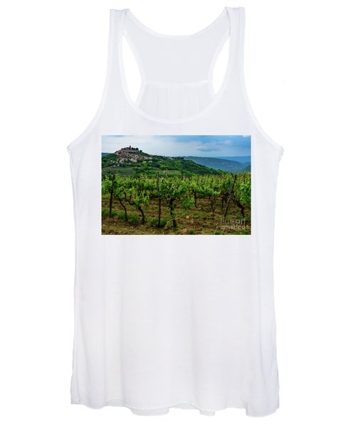 Motovun And Vineyards - Istrian Hill Town, Croatia Women's Tank Top