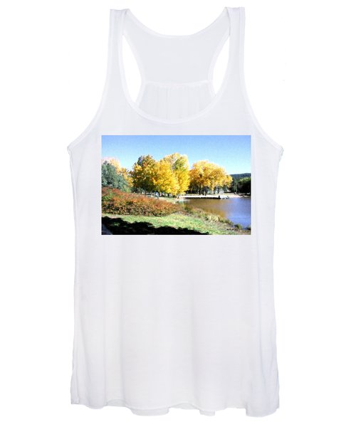 Mountain Lake Autumn Women's Tank Top