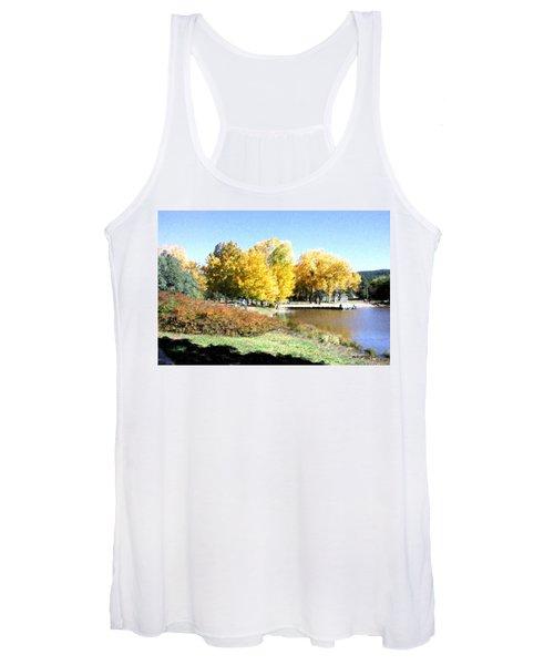 Mountain Lake Autumn Women's Tank Top