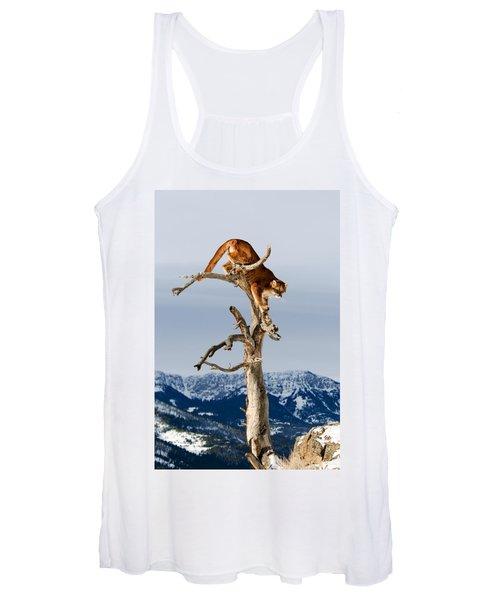 Mountain Lion In Tree Women's Tank Top