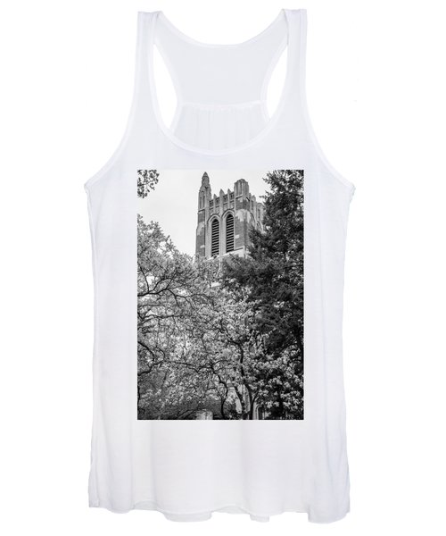 Msu Beaumont Tower Black And White 3 Women's Tank Top