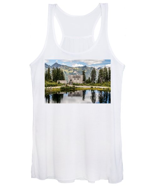Mt Baker Lodge In Picture Lake 1 Women's Tank Top