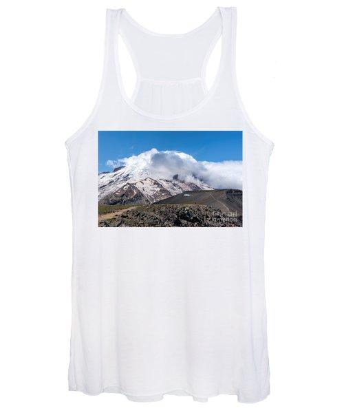 Mt Rainier In The Clouds Women's Tank Top