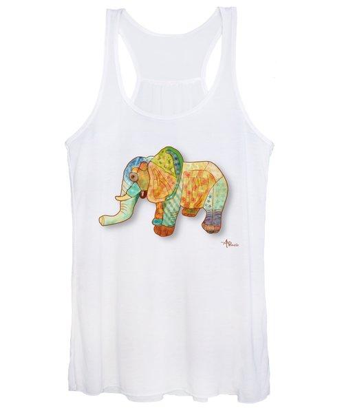 Multicolor Elephant Women's Tank Top