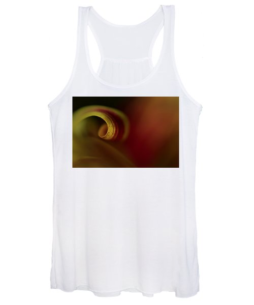 Women's Tank Top featuring the photograph Mum Curl Abstract by Bob Cournoyer