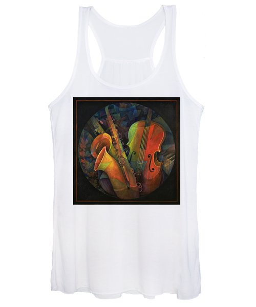 Musical Mandala - Features Cello And Sax's Women's Tank Top