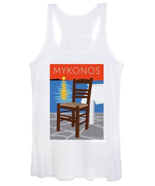 Mykonos Empty Chair - Orange Women's Tank Top