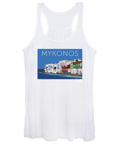 Mykonos Little Venice - Blue Women's Tank Top