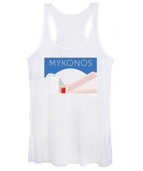 Mykonos Walls - Blue Women's Tank Top