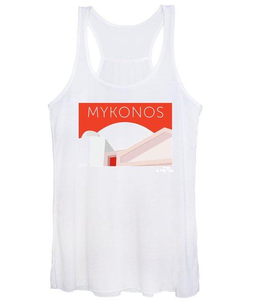 Mykonos Walls - Orange Women's Tank Top