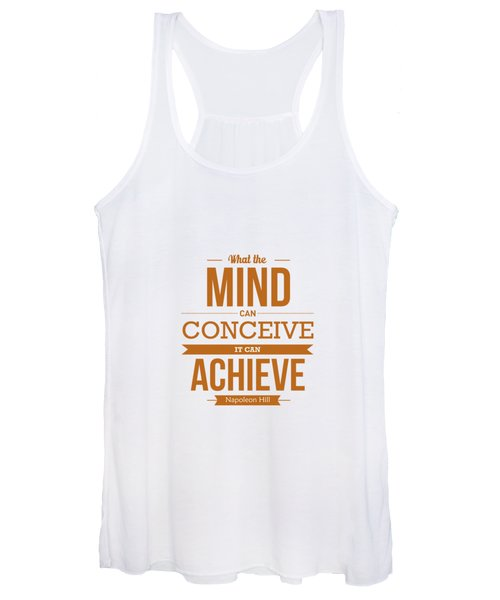 Napoleon Hill Typography Art Quotes Poster Women's Tank Top