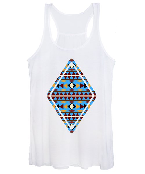 Navajo Blue Pattern Art Women's Tank Top
