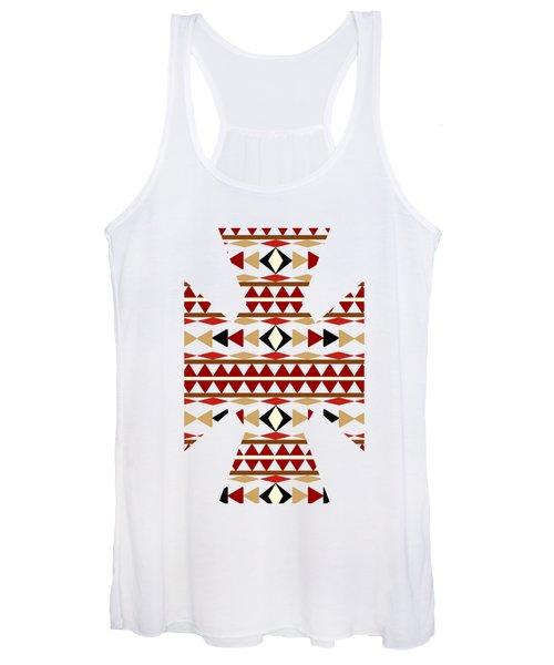 Navajo White Pattern Art Women's Tank Top