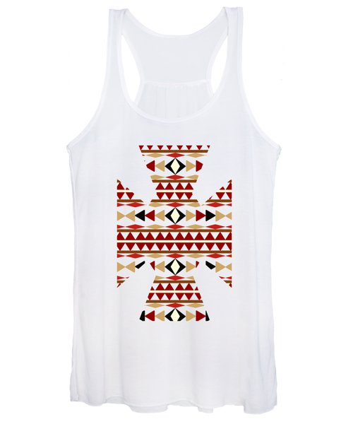 Navajo White Pattern Art Women's Tank Top