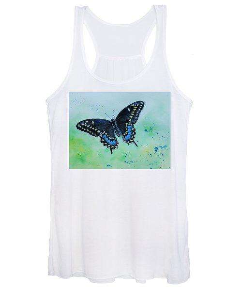 Neon Swallowtail Women's Tank Top