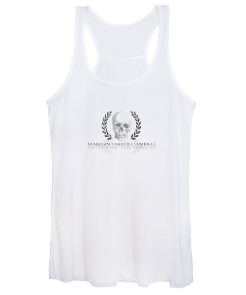 Never Fear The Shadows Stoic Skull With Laurels Women's Tank Top