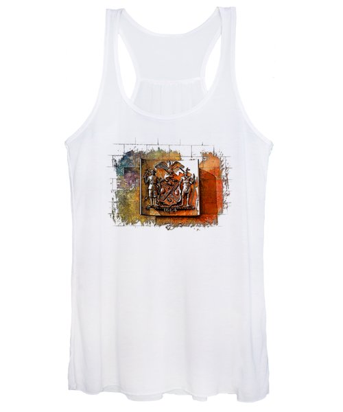 New York 1664 Earthy Rainbow 3 Dimensional Women's Tank Top